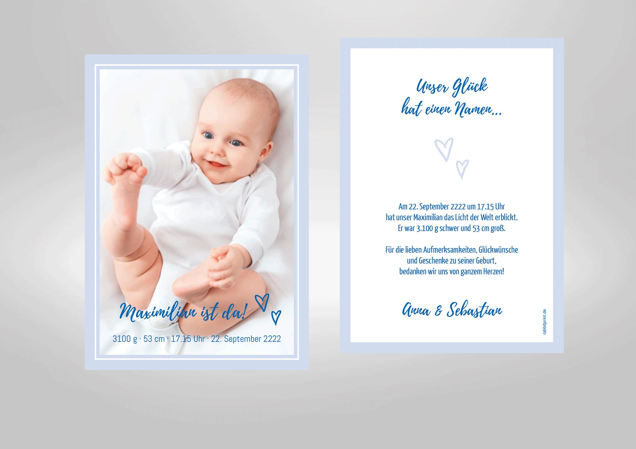Geburt Dankeskarten Geburt Taufe