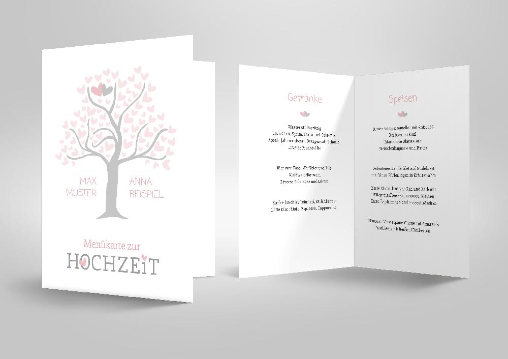 Menükarten - Zusatzprodukte - Hochzeit & Co.