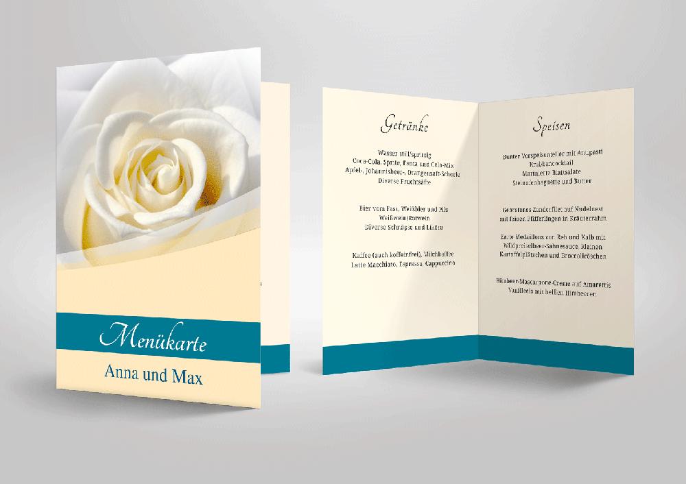 Elegante Menükarten Für Ihre Hochzeitstafel Zum Selbstgestalten
