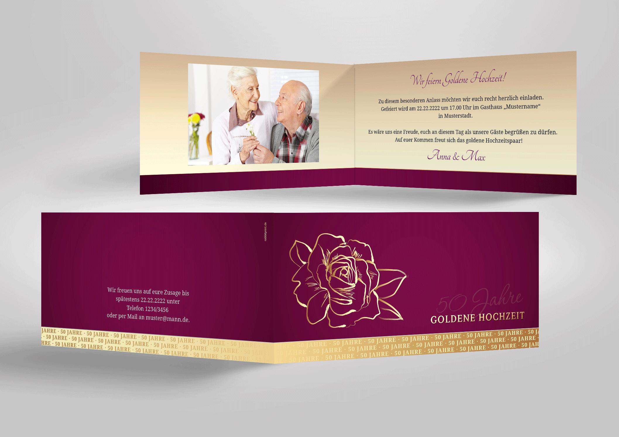 Einladungskarten Goldhochzeit Texte Und Spruche