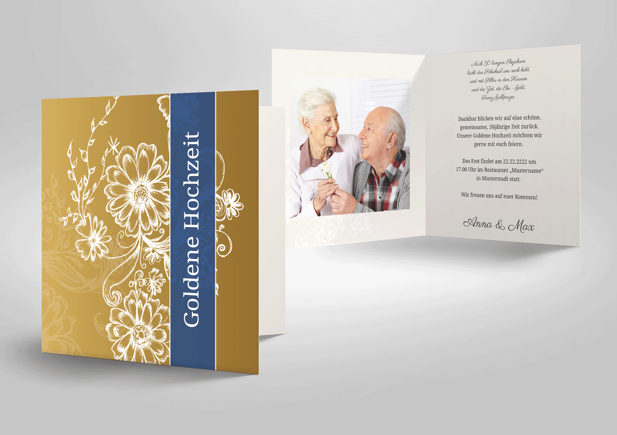 Einladungskarten Goldhochzeit Texte Und Sprüche