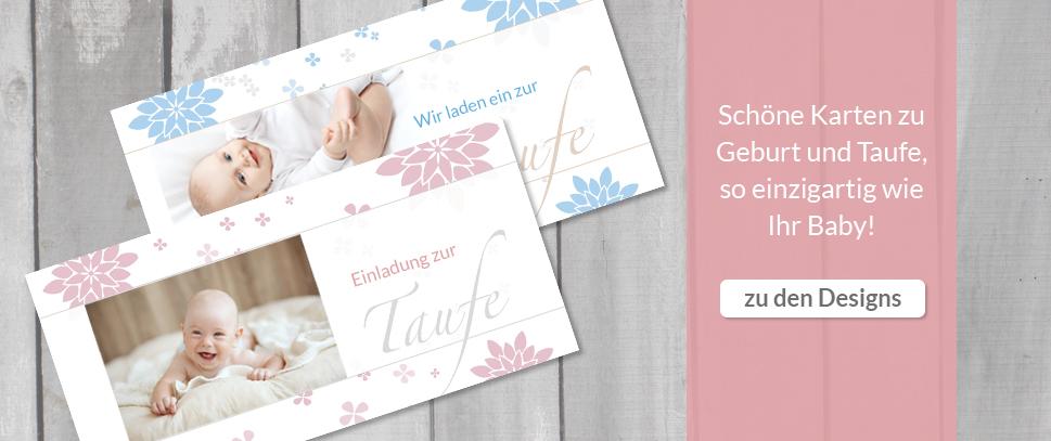 Einladungskarten zur Taufe für Jungen und Mädchen