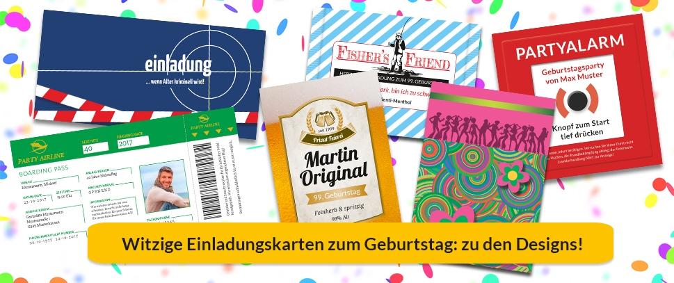 Witzige, ausgefallene Einladungskarten zum Geburtstag
