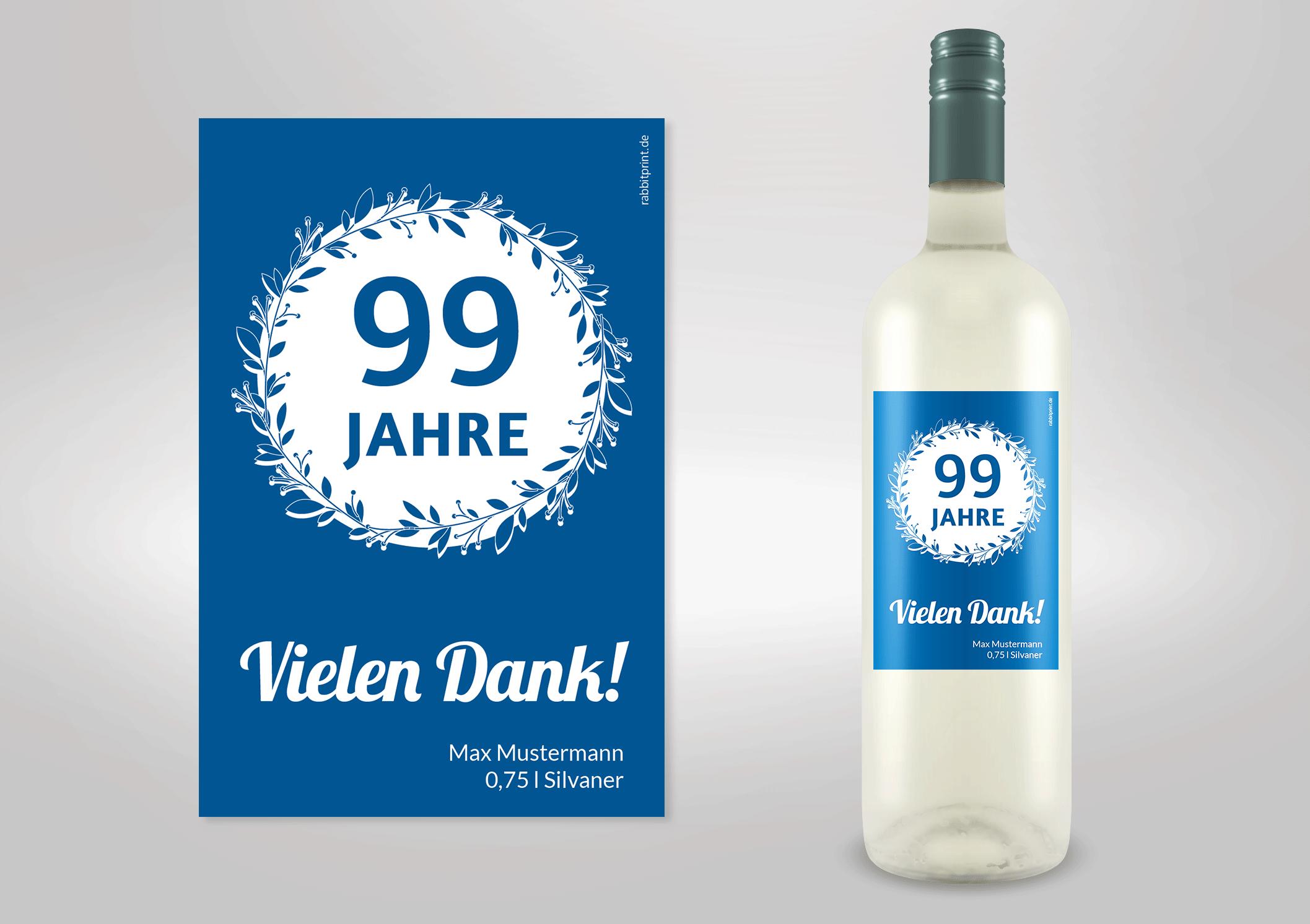 Etikett für Geburtstagswein